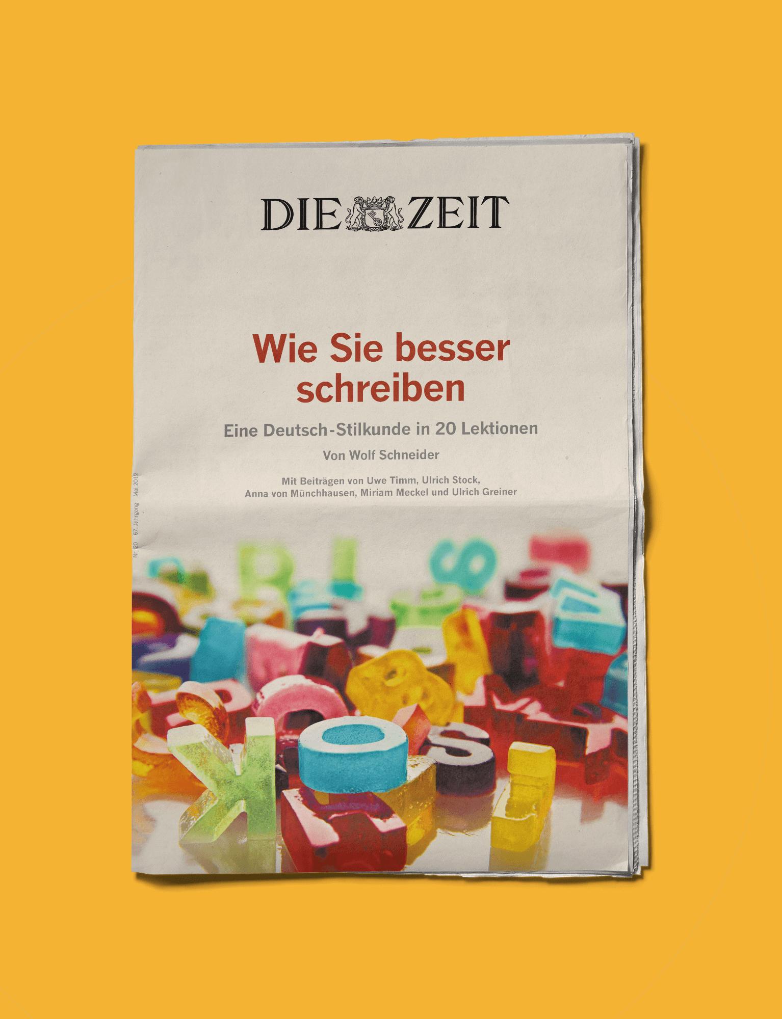Die Zeit Cover Newspaper